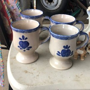 Vintage pottery cups (4)